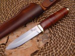 Полевой нож Leather Bushcrafter от  Vehement Knives